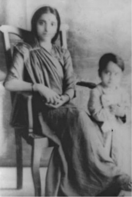 Durgawati Devi with Son