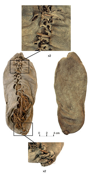 the oldest know leather shoe about 5500 years old found in armenia
