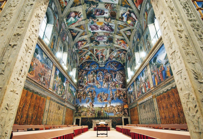 Sistine Chapel in Rome Italy