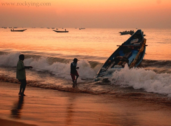 Fishing in puri Orissa