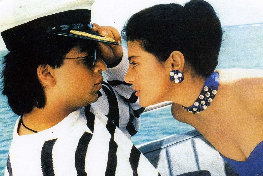 Shahrukh-Khan and Kajol in Baazigar