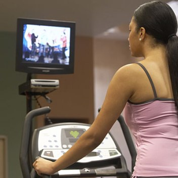 TV and Treadmill